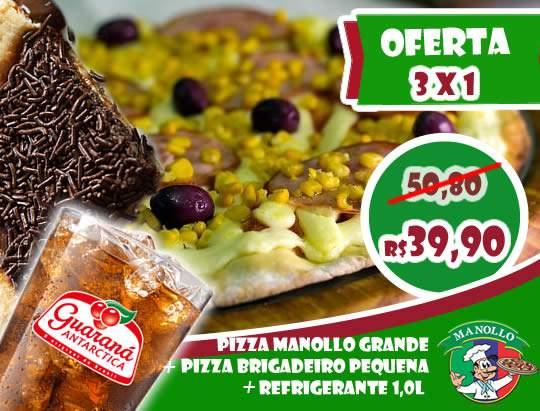Pizza Família + Pizza Doce + Guaraná 1l