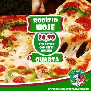 rodizio-quarta-delivery,manollo-pizzaria